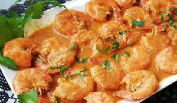 Crevettes-lait-de-coco-mangue